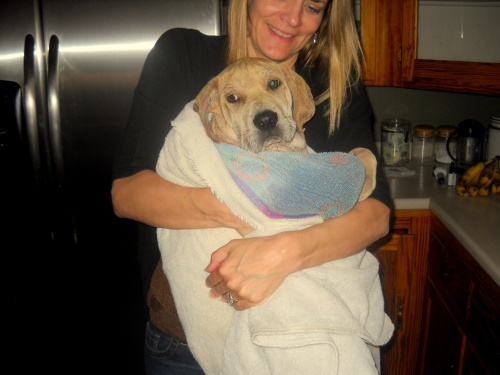 ...After bath, in the arms of My Lovely Julie.